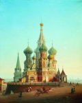 Alexey Petrovich Bogolyubov (16 March 1824 � 3 February 1896) Saint Basil's Cathedral Oil on canvas Private Collection