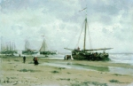 Alexey Petrovich Bogolyubov (16 March 1824  3 February 1896) Scheveningen. Netherlands Oil on canvas, 1885 14.6 x 17.6 cm Saratov State Art Museum of A.N. Radishchev, Russia