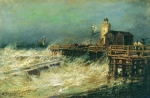 Alexey Petrovich Bogolyubov (16 March 1824 – 3 February 1896) Storm Oil on canvas
