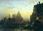 Alexey Petrovich Bogolyubov (16 March 1824  3 February 1896) Venice Oil on canvas 40 x 56 cm Nizhni Novgorod Art Museum