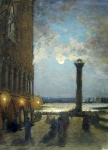 Alexey Petrovich Bogolyubov (16 March 1824 – 3 February 1896) Venice. Night.  Oil on canvas
