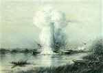 Alexey Petrovich Bogolyubov (16 March 1824 – 3 February 1896) Explosion of the Turkish steamer