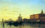Alexey Petrovich Bogolyubov (16 March 1824 – 3 February 1896) Type of Venice. Doge\'s Palace Oil on canvas, 1860 67 x 104.5 cm Donetsk Regional Museum of Art, Ukraine