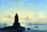 Alexey Petrovich Bogolyubov (16 March 1824 – 3 February 1896) Type of Revel. Lighthouse (Marina with a lighthouse) Oil on canvas, 1853 62 x 88.5 cm Perm State Art Gallery, Russia