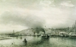 Alexey Petrovich Bogolyubov (16 March 1824 – 3 February 1896) View of the Nizhny Novgorod to the Volga Paper, ink, pen, blur 26.7 x 43.7 cm Nizhni Novgorod Art Museum, Russia