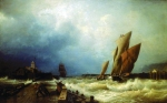Alexey Petrovich Bogolyubov (16 March 1824 – 3 February 1896) Log a fishing vessel in a storm in the harbor of Saint Valery in Caux (France) Oil on canvas, 1859 121 x 189 cm The State Russian Museum, St. Petersburg, Russia