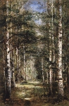 Alexey Petrovich Bogolyubov (16 March 1824 – 3 February 1896) Birch Grove Village Yudin, 1868