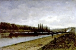Alexey Petrovich Bogolyubov (16 March 1824 – 3 February 1896) Bichevnik on the River Oise. L'Isle-Adam, 1881