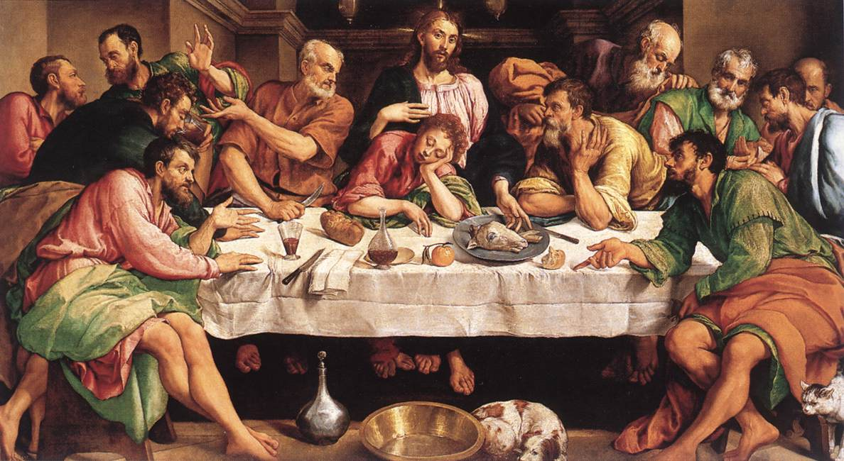Jacopo Bassano (Jacopo da Ponte) (1510-1592)  The Last Supper  Oil on canvas, 1542  Galleria Borghese, Rome