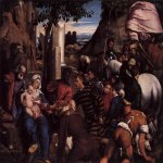 Jacopo Bassano (Jacopo da Ponte) (1510-1592)    Adoration of the Kings  1542  Oil on canvas  National Gallery of Scotland, Edinburgh