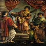 Jacopo Bassano (Jacopo da Ponte) (1510-1592)    Three Martyr Saints    1578  Oil on canvas, 102 x 79 cm  Private collection