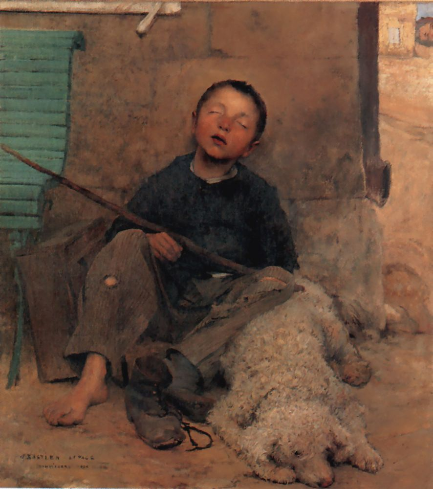 Jules Bastien-Lepage (1848-1884)  The Blind Beggar  Oil on canvas  Private collection