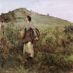 Jules Bastien-Lepage (1848-1884)  At Harvest Time  Oil on canvas, 1880  32 x 41 3/8 inches (81.3 x 105.4 cm)  Private collection