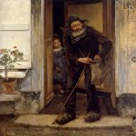 Jules Bastien-Lepage (1848-1884)  Le Mendiant [The Beggar]  Oil on canvas, 1880  75 3/4 x 71 inches (192.5 x 180.5 cm)  Ny Carlberg Glyptotek, Copenhagen
