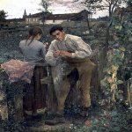 Jules Bastien-Lepage (1848-1884)  Rural Love  Oil on canvas, 1882  Pushkin Museum, Moscow