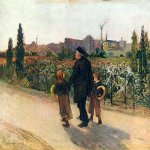 Jules Bastien-Lepage (1848-1884)  All Souls' Day  Oil on canvas, c.1882  Museum of Fine Arts, Budapest