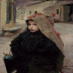 Jules Bastien-Lepage (1848-1884)  Going to School  Oil on canvas, 1882  Private collection
