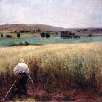 Jules Bastien-Lepage (1848-1884)  Les bles murs [The Ripened Wheat]  Oil on canvas  Santa Barbara Museum of Art