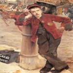 Jules Bastien-Lepage (1848-1884)  The London Bootblack  Oil on canvas, 1882  52 1/8 x 35 1/8 inches (132.5 x 89.5 cm)  Museum des Arts Decoratifs, Paris