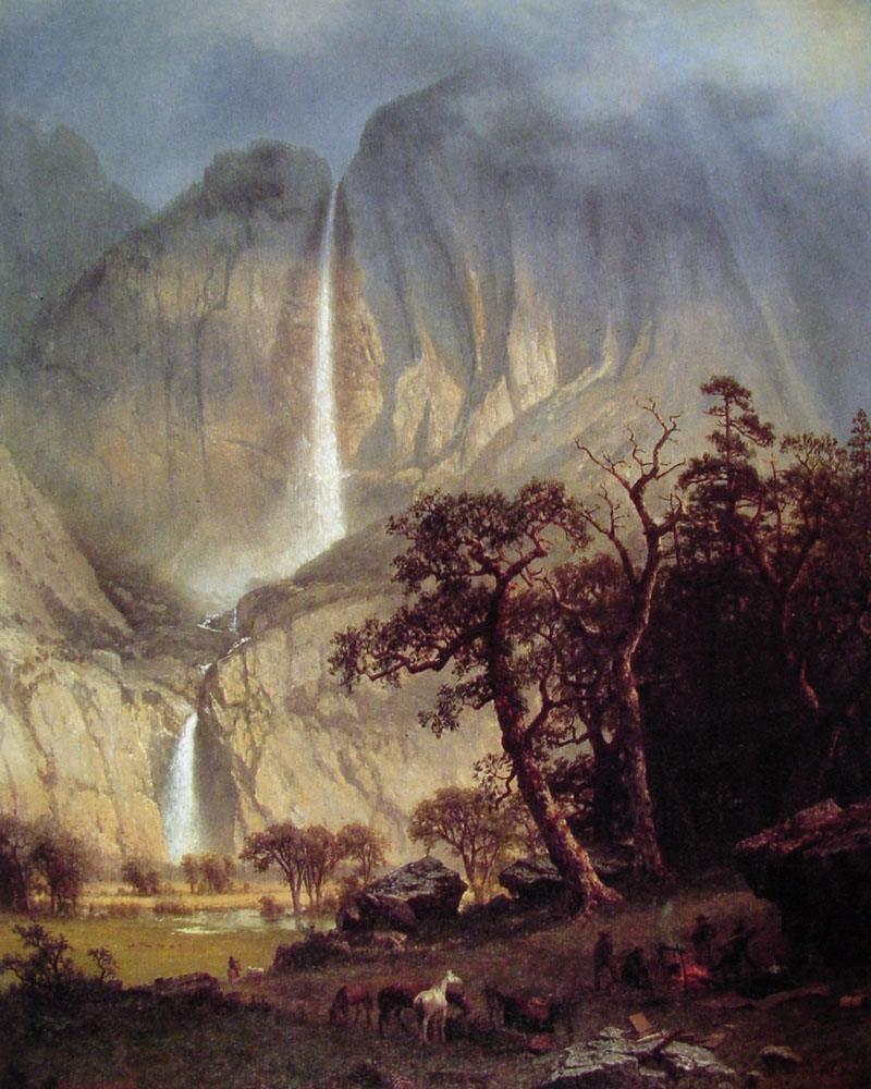 Albert Bierstadt (1830-1902)  Cho-looke: The Yosemite Fall  Oil on canvas, 1864  34 3/8 x 27 1/8 inches (87.6 x 68.9 cm)  Timken Art Gallery, San Diego