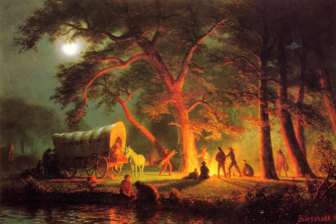 Albert Bierstadt (1830-1902)  Oregon Trail  Oil on canvas  Public collection