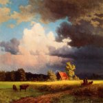 Albert Bierstadt (1830-1902)  Bavarian Landscape  Oil on canvas  Public collection
