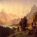 Albert Bierstadt (1830-1902)  Bernese Alps  Oil on canvas, 1859  Public collection