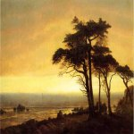 Albert Bierstadt (1830-1902)  California Coast  Oil on canvas  30 1/8 x 44 1/4 inches (76.83 x 112.4 cm)  Public collection