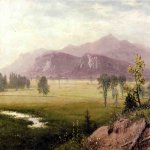 Albert Bierstadt (1830-1902)  Conway Meadows, New Hampshire  Oil on canvas  20 x 27 inches (50.8 x 68.58 cm)  Public collection