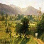 Albert Bierstadt (1830-1902)  Conway Valley, New Hampshire  Oil on canvas laid down on board  13 1/4 x 19 1/4 inches (33.66 x 48.9 cm)  Public collection