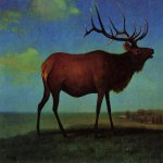 Albert Bierstadt (1830-1902)  Elk  Oil on paper  Public collection