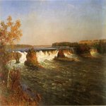 Albert Bierstadt (1830-1902)  Falls of Saint Anthony  Oil on canvas  Public collection