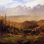 Albert Bierstadt (1830-1902)  In the Foothills of the Mountais  Oil on paper,laid down on canvas  14 x 19 inches (35.56 x 48.26 cm)  Public collection