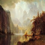 Albert Bierstadt (1830-1902)  In the Mountains  Oil on canvas, 1867  Wadsworth Atheneum, Hartford