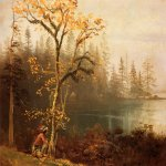 Albert Bierstadt (1830-1902)  Indian Scout  Oil on paper  14 x 18 inches (35.56 x 45.72 cm)  Public collection