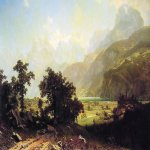 Albert Bierstadt (1830-1902)  Lake Lucerne, Switzerland  Oil on canvas, 1858  72 x 120 inches (182.9 x 304.8 cm)  National Gallery of Art, Washington