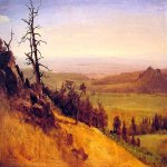 Albert Bierstadt (1830-1902)  Nebraska Wasatch Mountains  Oil on paper laid down on board, 1859  Public collection