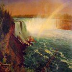 Albert Bierstadt (1830-1902)  Niagara  Oil on paper mounted on canvas, c.1869  19 x 27 inches (48.3 x 68.6 cm)  Private collection