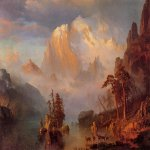 Albert Bierstadt (1830-1902)  Rocky Mountains  Oil on canvas, 1866  Public collection