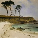 Albert Bierstadt (1830-1902)  Sea Cove  Oil on wood, 1880-1890  14 x 19 inches (35.6 x 48.3 cm)  Private collection