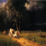 Albert Bierstadt (1830-1902)  The Ambush  Oil on canvas, 1876  Public collection