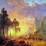 Albert Bierstadt (1830-1902)  The Oregon Trail  Oil on canvas, 1869  30 7/8 x 49 3/8 inches (78.7 x 125.7 cm)  The Butler Institute of American Art, Youngstown