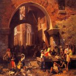 Albert Bierstadt (1830-1902)  The Portico of Octavia  Oil on canvas, 1855  Public collection