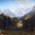 Albert Bierstadt (1830-1902)  The Rocky Mountains, Lander's Peak  Oil on canvas, 1863  73 1/2 x 120 5/8 inches (186.7 x 306.7 cm)  Private collection