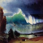 Albert Bierstadt (1830-1902)  The Shore of the Turquoise Sea  Oil on canvas, 1878  42 1/2 x 64 3/8 inches (108 x 163.8 cm)  Manoogian Collection