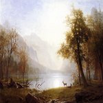 Albert Bierstadt (1830-1902)  Valley in Kings Canyon  Oil on canvas  30 x 44 inches (76.20 x 111.76 cm)  Public collection