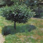 Victor Borisov-Musatov (1870-1905)  A Tree. Study  Oil on canvas, 1897  The A. N. Radishchev Museum of Arts, Saratov, Russia