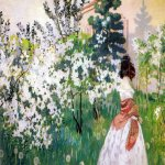 Victor Borisov-Musatov (1870-1905)  Spring  Tempera on canvas, 1898-1901  71 x 98 cm  The Russian Museum, St. Petersburg, Russia