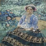 Victor Borisov-Musatov (1870-1905)  Woman in Blue  Tempera and gouache,  1901-1903  The Picture Gallery of Armenia, Erevan, Armenia