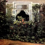 Victor Borisov-Musatov (1870-1905)  Window  Oil on canvas, 1886  The Tretyakov Gallery, Moscow, Russia